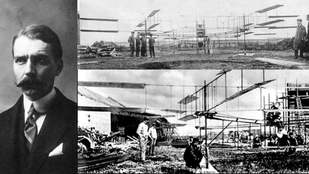il quadricottero di breguet in fase di costruzione