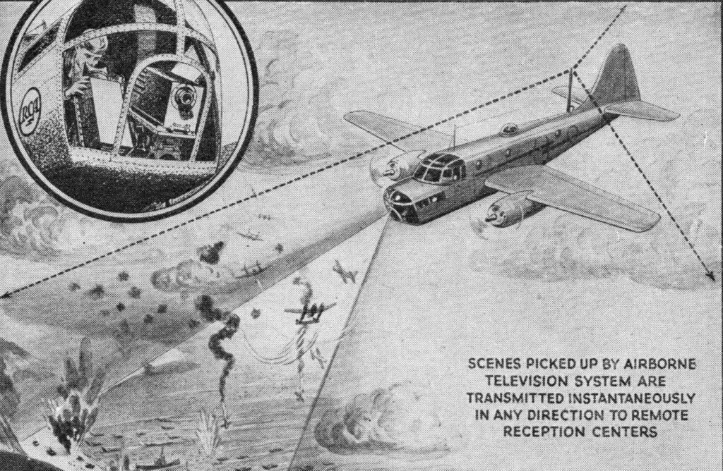 il primo sistema tv installato sui droni