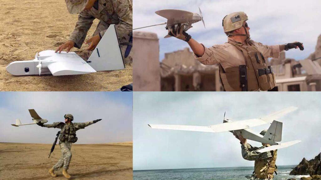 minidroni utilizzati dai soldati per le ricognizioni