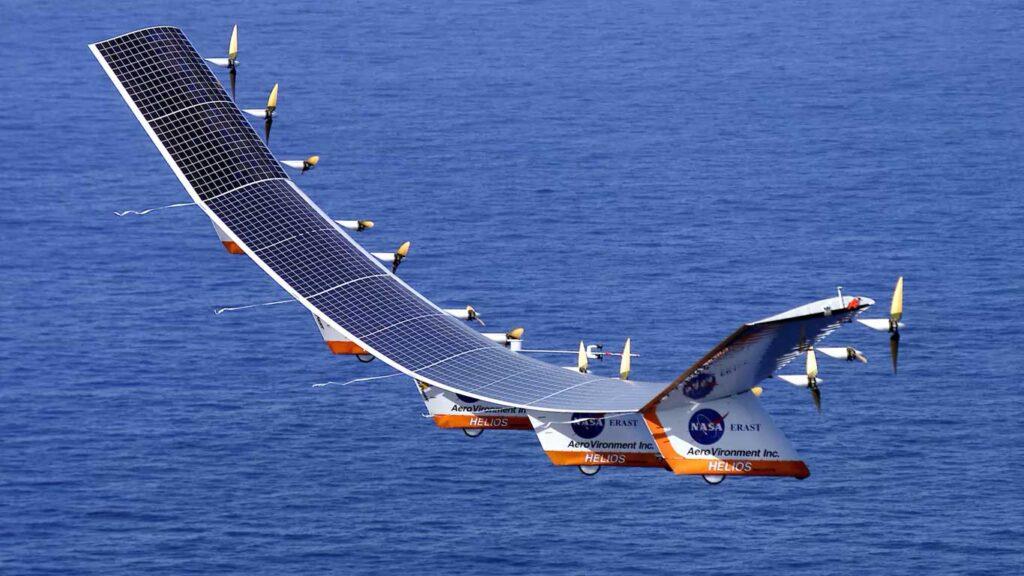 il drone pathfinder in volo