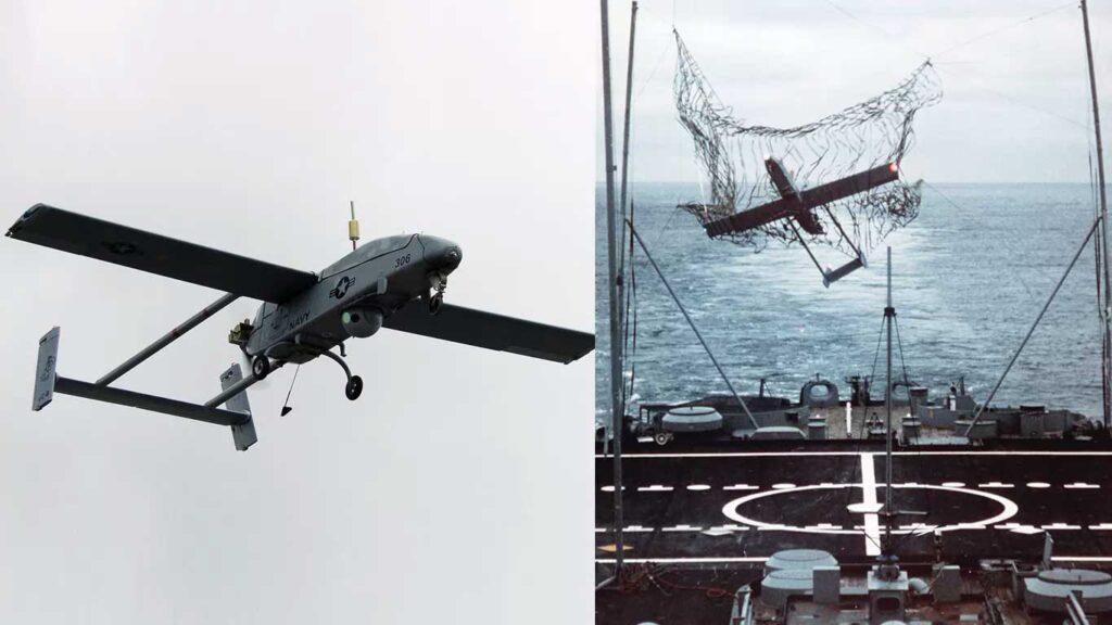 sistema di raccolta dei droni con rete a bordo delle navi al largo