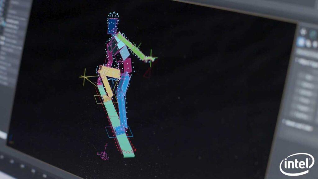 il software usato per creare lo snowboarder di droni luminosi