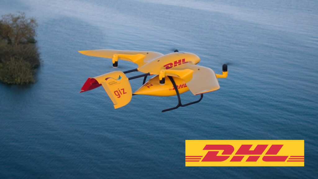 dhl parcelcopter in volo sul mare