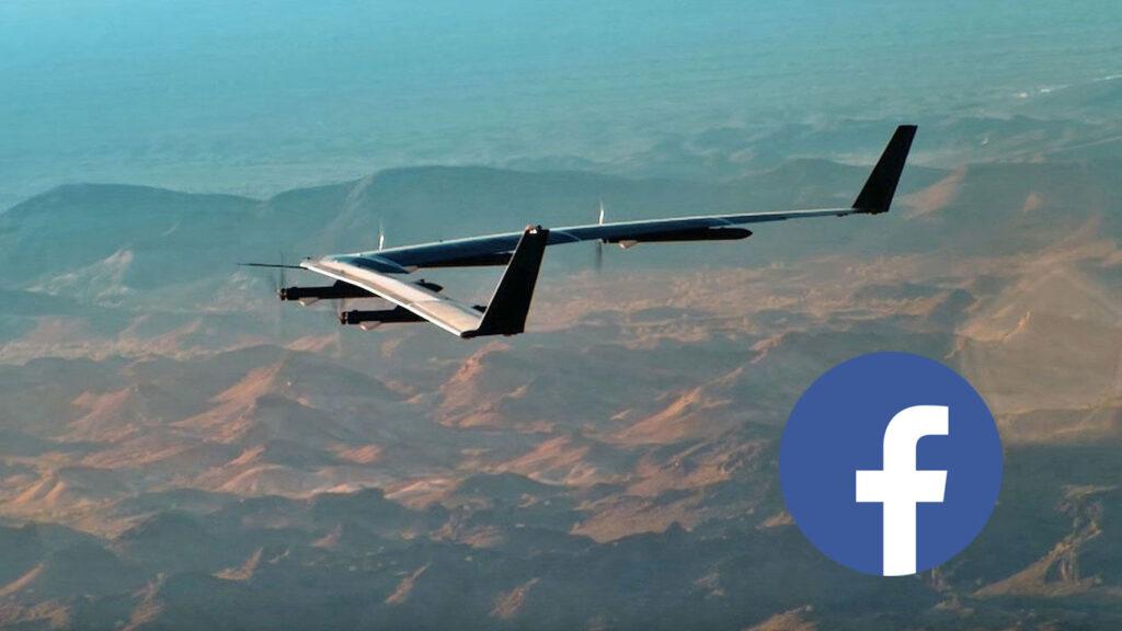 drone facebook aquila in volo