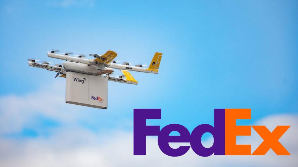 drone fedex in volo per consegne