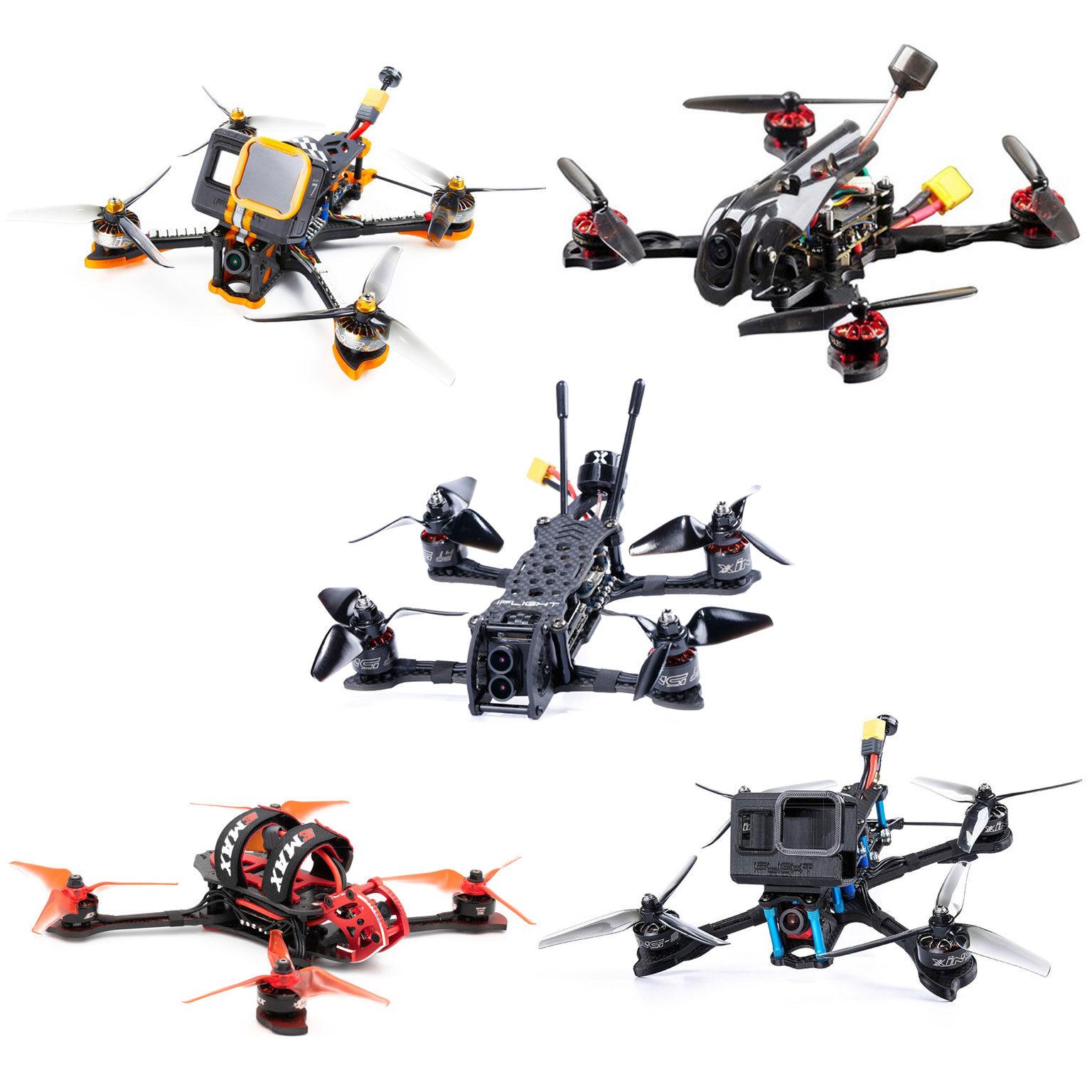 collage di vari tipi di droni FPV