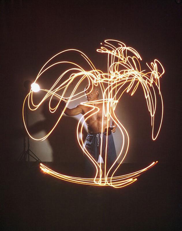 pablo picasso disegni di luce