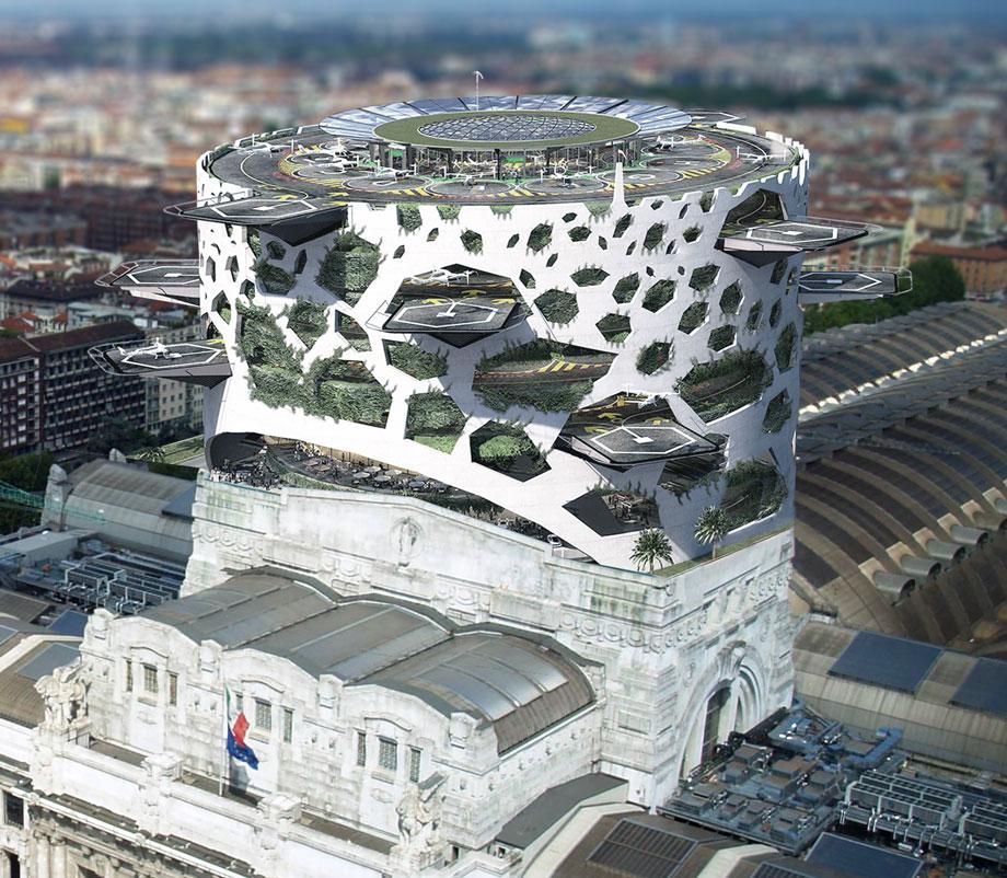 mobilità aerea urbana - vertiporto di Milano